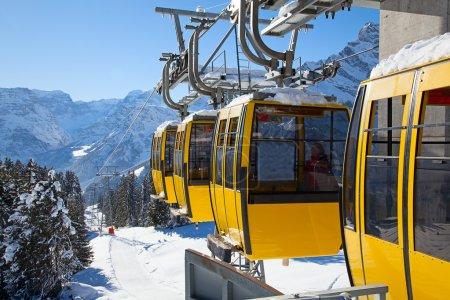 Ski lift in Swiss Alps