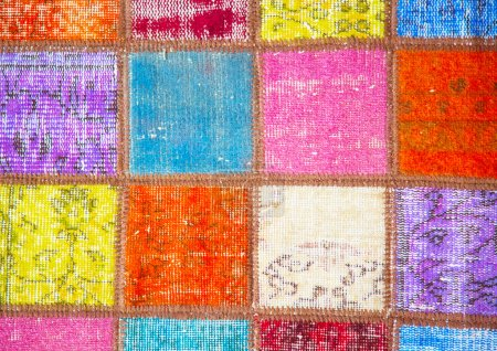 Colorful  quilt on the arabian market