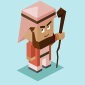 Prophet moses with stick Vector illustration