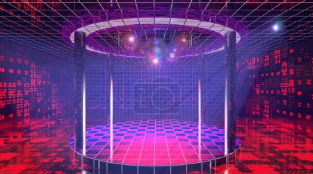 Shining fancy hi-tech disco club