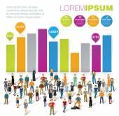 Human infographics template