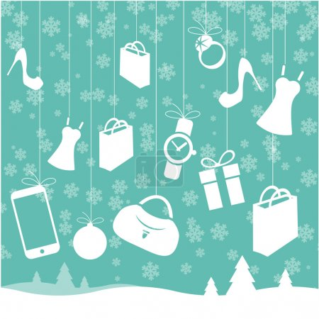 Christmas sale vector template