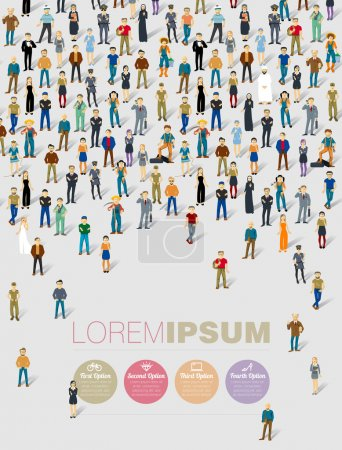 Illustration pour Infographie humaine. Modèle vectoriel . - image libre de droit