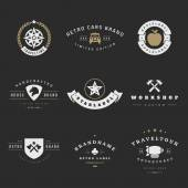 Retro Logotypes vector set Vintage graphics design elements