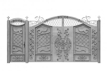 Forged gates and door for manor.