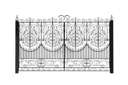 Openwork metal gate.