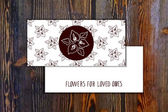 Card template with seamless pattern and floral element with callas on wooden background Suitable for floral shops wedding designs web and print