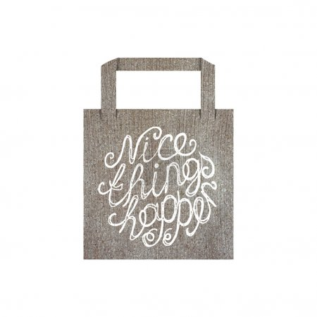 Eco bag mockup template with lettering element