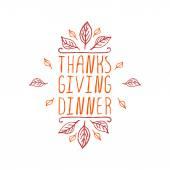 Thanksgiving dinner - typographic element