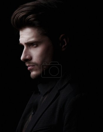 Photo for Elegant young handsome man. Studio fashion - Royalty Free Image