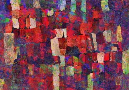 Photo pour Dessin pour enfants de la palette avec tache abstraite - image libre de droit