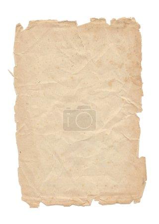 Photo pour Une vieille feuille de papier isolée sur fond blanc - image libre de droit
