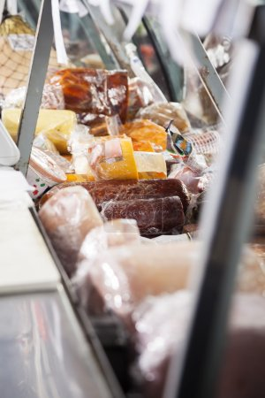 Closeup Of Meat Displayed At Counter