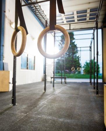 Gymnastic Rings At Gym