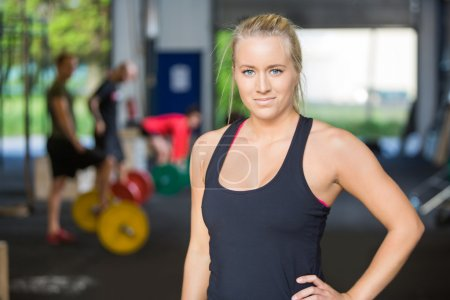 Portrait Of Confident Woman in Gym