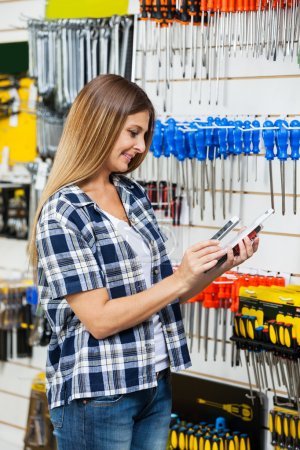 Customer Scanning Products Barcode Through Mobilephone
