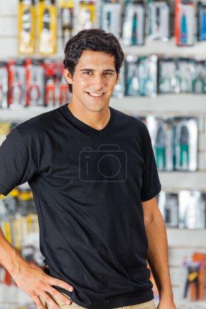 Confident Man In Hardware Store