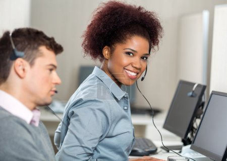 Young Customer Service Representative In Office