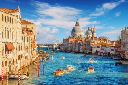 Photo for Grand Canal and Basilica Santa Maria della Salute, Venice, Italy - Royalty Free Image