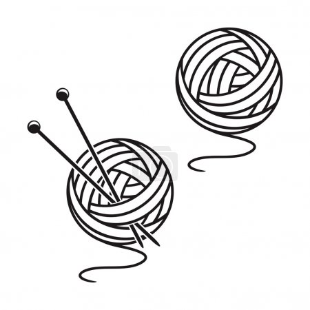 Set of balls of a yarn
