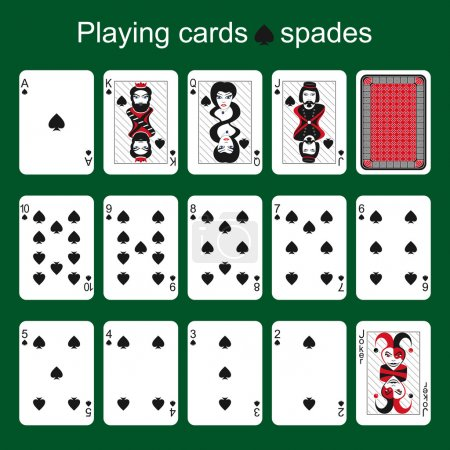 Playing cards. Spades