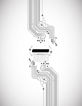 Illustration for Abstract circuit board background texture - Royalty Free Image