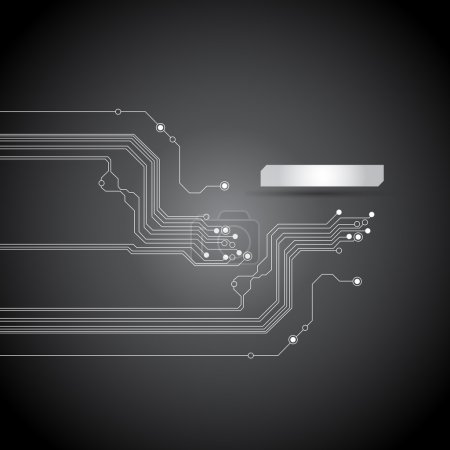 Illustration for Abstract black circuit board backgrounds - vector - Royalty Free Image