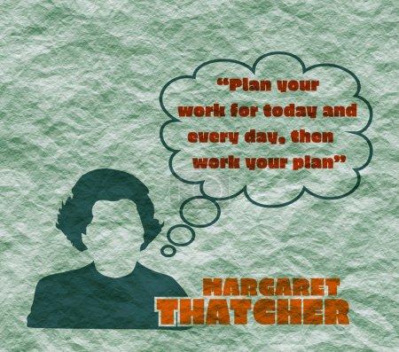 Margaret Thatcher Simple Style Silhouette Portrait