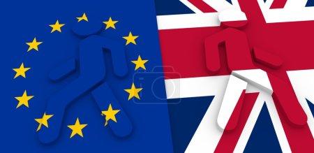 Britain exit from European Union. Brexit metaphor