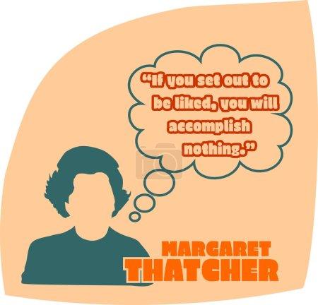 Margaret Thatcher, British Prime Minister. Simple Flat Style Silhouette Portrait