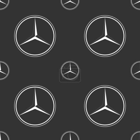 Mercedes Benz emblem on dark grey background.