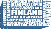 finland cities tags cloud