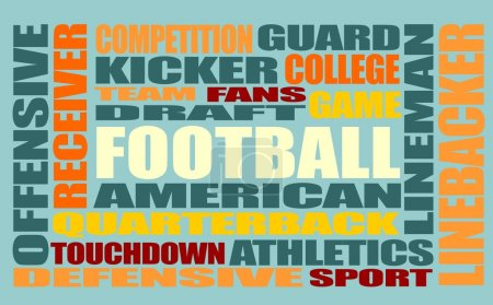 American football word cloud concept