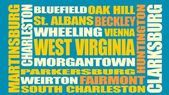 Image relative to USA travel West Virginia cities and places names cloud Image relative to USA travel West Virginia cities and places names cloud