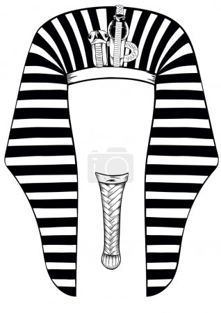Vector illustratoin Egyptian Pharaoh template...