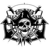 Pirate skull illustration