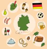 The set of national profile of the germany cartoon state of the world isolated