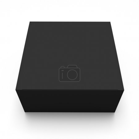 Photo for Blank black box top front view isolated on white background - Royalty Free Image
