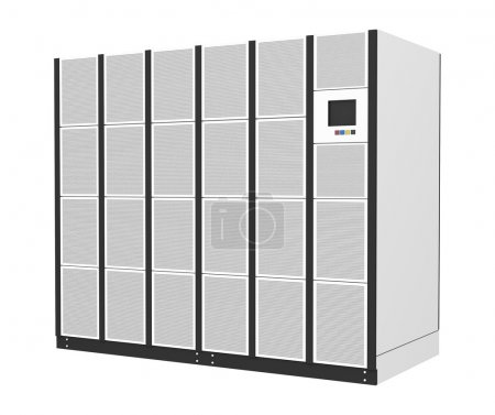 Data Center Power Supply isolated on white background