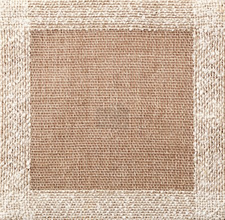 Photo for Brown linen napkin texture - Royalty Free Image