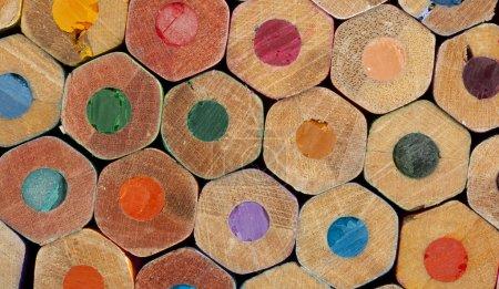 Photo pour Texture des crayons de couleur en gros plan - image libre de droit