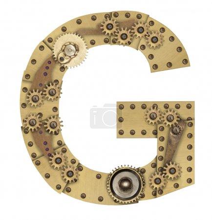Steampunk alphabet letter G
