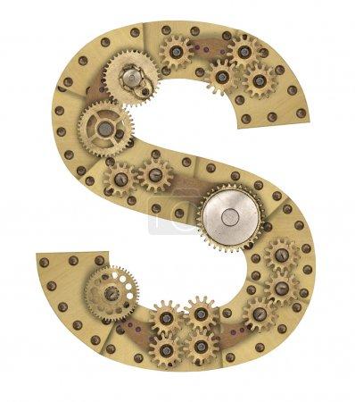 Steampunk alphabet letter S
