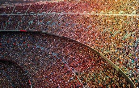 Photo pour Fans dans le stade de football grand - image libre de droit