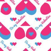 Seamless pattern for Valentine's da
