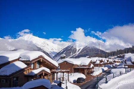 Mountains ski resort Caucasus