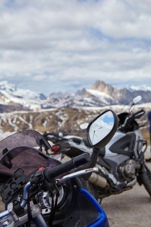 Motorcycles trip in the Dolomites