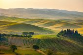 green hills in Tuscany