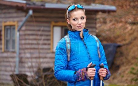 Active woman exercising outdoor