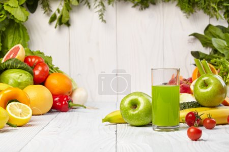 Photo for Various Freshly Vegetable Juices for Detox - Royalty Free Image